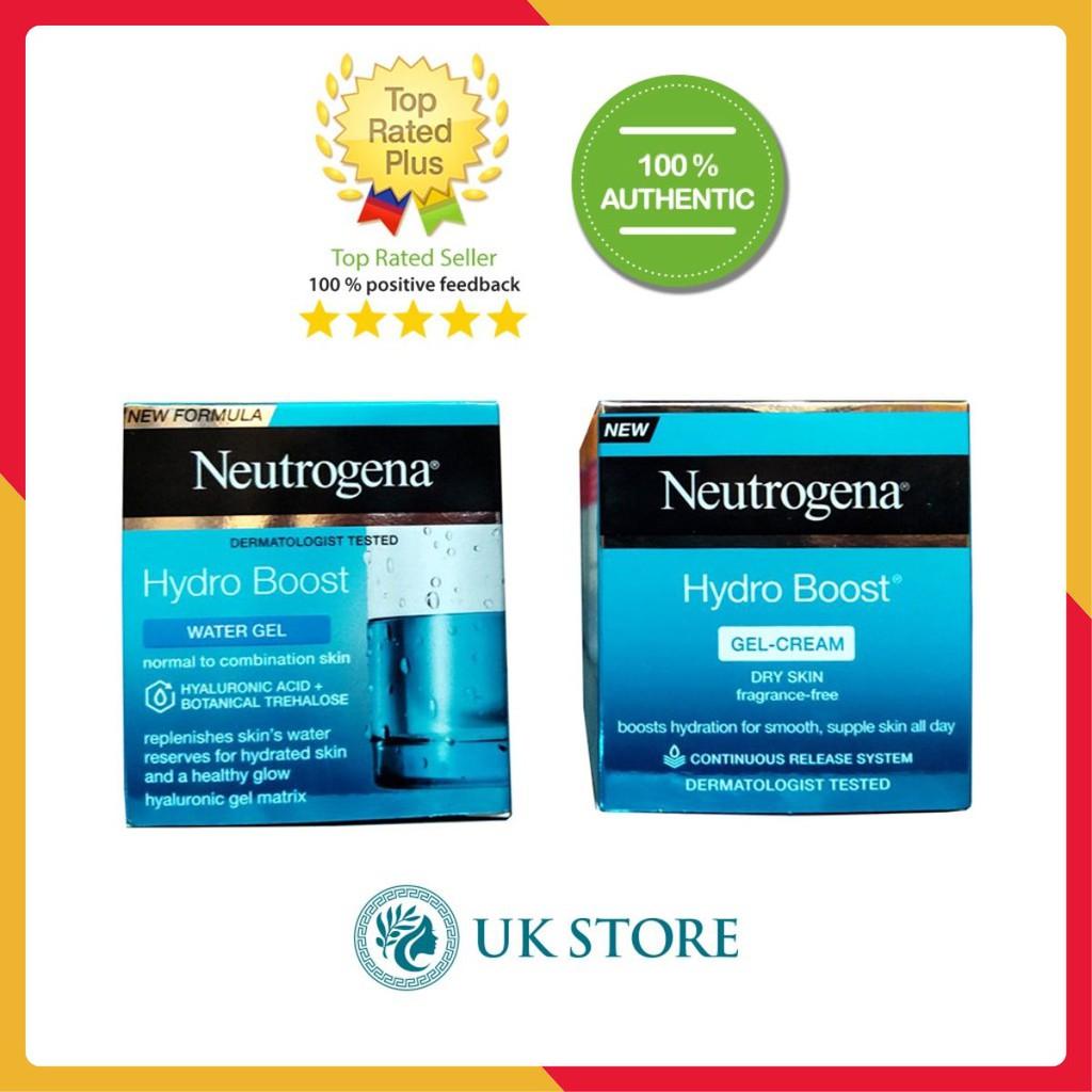 Kem dưỡng da Neutrogena Aqua gel và Aqua cream cho da dầu và da khô