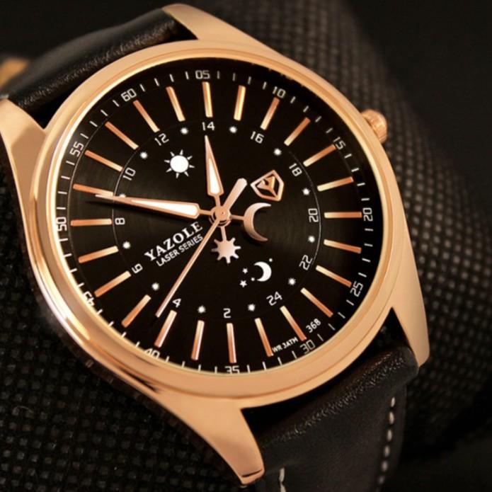 Đồng hồ nam YAZOLE chính hãng, dây dao cao cấp, đeo êm tay, chống nước tốt, lịch lãm, phong cách ( Mã: AYS )