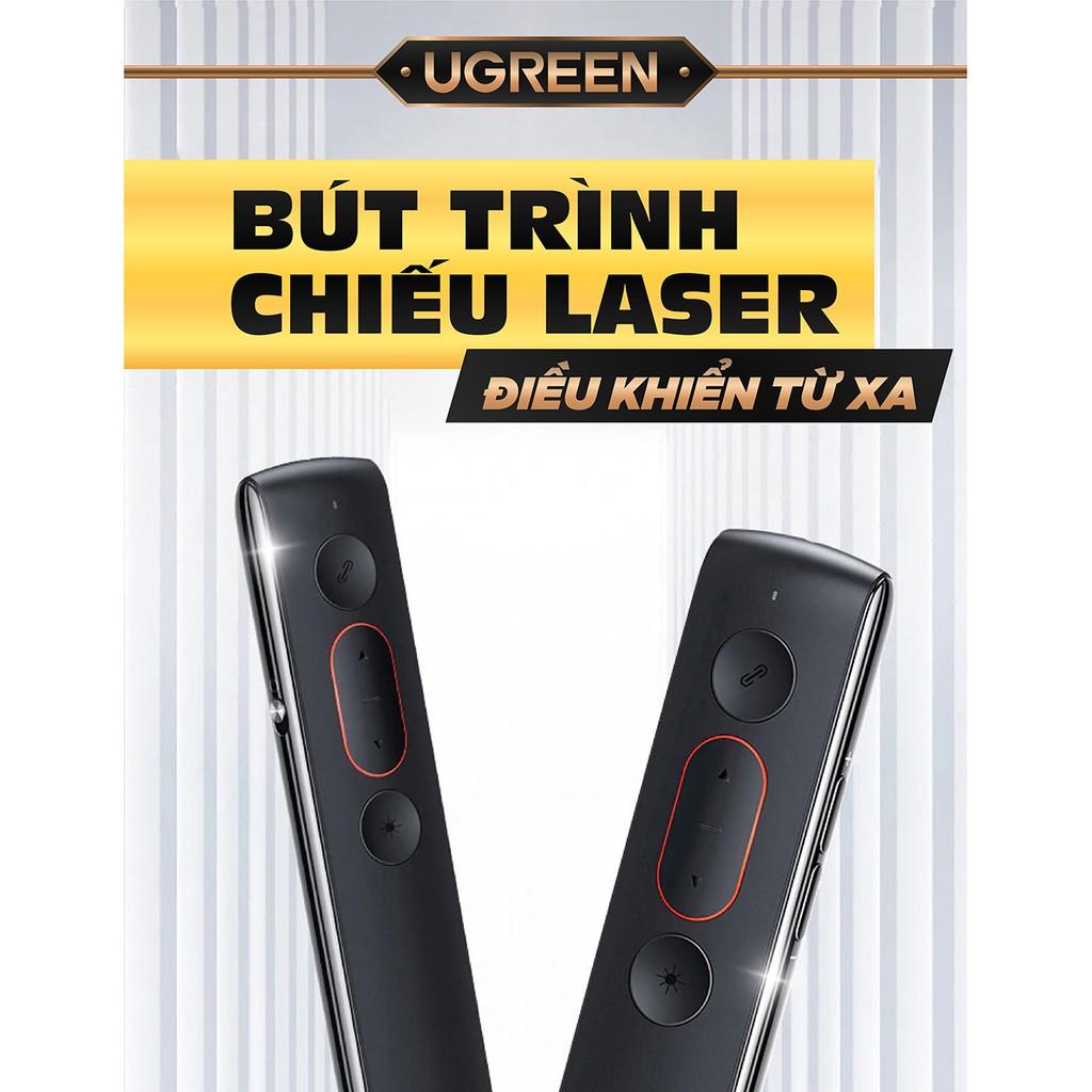 Bút trình chiếu PowerPoint Laser hãng UGREEN LP180 60327 không dây điều khiển từ xa 100m (sử dụng pin AAA)