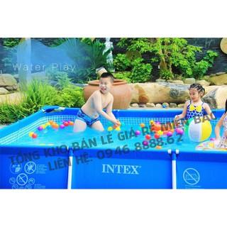 Bể bơi cao cấp khung kim loại cao cấp intex 3mx2mx75cm