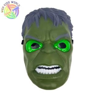 Mặt nạ người khổng lồ xanh HULK có đèn, đồ chơi trẻ em lứa tuổi 3+ mặt nạ hóa trang, halloween, trang phục cosplay HZ09