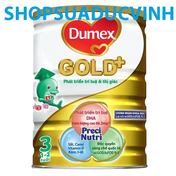 Sữa bột Dumex Gold 3 (800g) (1-2 tuổi) Date 07/18