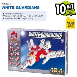 Bộ đồ chơi Artec lắp ghép máy bay đỏ 10 trong 1