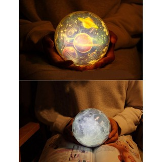 BOBORA Kids Bedroom Light Universe Starry Sky Moon Magic Star Moon Planet Rotating Projector Lamp LED Night Light