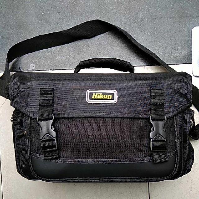 Giỏ sọc xanh lớn hiệu Nikon