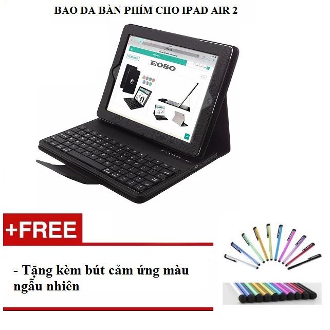 Bao da bàn phím cho ipad air 2 tặng kèm bút cảm ứng - hàng nhập khẩu - 9985957 , 956079581 , 322_956079581 , 1100000 , Bao-da-ban-phim-cho-ipad-air-2-tang-kem-but-cam-ung-hang-nhap-khau-322_956079581 , shopee.vn , Bao da bàn phím cho ipad air 2 tặng kèm bút cảm ứng - hàng nhập khẩu