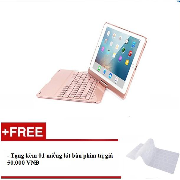[ HÀNG NHẬP KHẨU] Bàn phím Bluetooth không dây cao cấp cho Ipad Pro 10.5(Màu Rose Gold) - Tặng kèm h