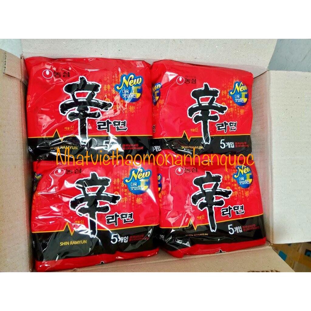 Combo 5 gói Mì cay nước Shin Ramyun Hàn Quốc