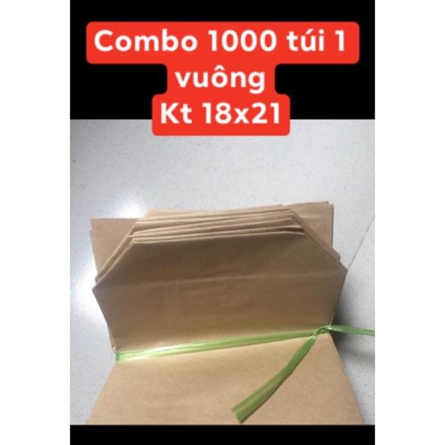 Combo 1000  túi giấy xi măng gói hàng loại túi 1 vuông
