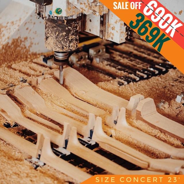 Đàn Ukulele gỗ size Concert 23' - Chính hãng YALE