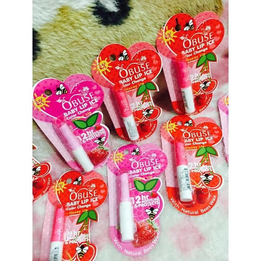 Son dưỡng môi Obuse Baby Lip Thái trái cây - KM - 3040883 , 961496973 , 322_961496973 , 39000 , Son-duong-moi-Obuse-Baby-Lip-Thai-trai-cay-KM-322_961496973 , shopee.vn , Son dưỡng môi Obuse Baby Lip Thái trái cây - KM