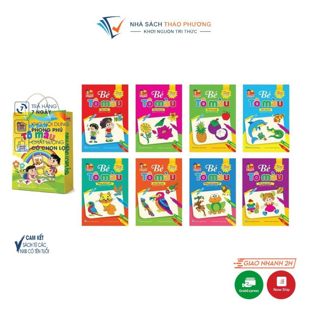 [Mã LIFE5510K giảm 10K đơn 20K] Sách - Bộ tô màu 3-4 tuổi song ngữ Anh-Việt (Túi 8 cuốn)