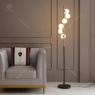 Đèn cây đứng trang trí góc sofa phòng ngủ phòng khách Moonlight, tặng kèm bóng led