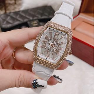 Đồng hồ Nữ Franck muller dây da, phiên bản sắc màu, hàng full box, thẻ bào hành 12 tháng - Dongho.franck.muller thumbnail