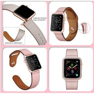 [Mã ELFLASH5 giảm 20K đơn 50K] Dây đồng hồ Apple Watch bằng da Leather Strap dùng cho 1/2/3/4/5 size 38/40mm và 42/44mm