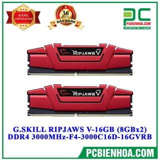 Bô nhơ G.SKILL RIPJAWS V-16GB (8GBx2) DDR4 3000MHz- F4-3000C16D-16GVRB chi nh ha ng Mai Hoa ng thumbnail