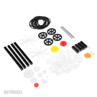 92pcs Plastic Gears Kits Pulley Spindle Shaft Worm Gear for Toy Robot DIY