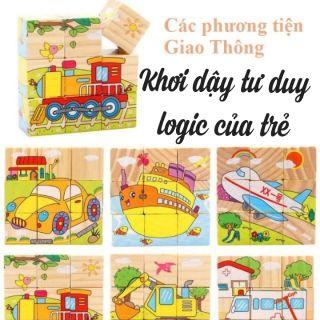 Đồ chơi giáo dục sớm – Bộ đồ chơi xếp hình 6 mặt kích thích phát triển trí tuệ