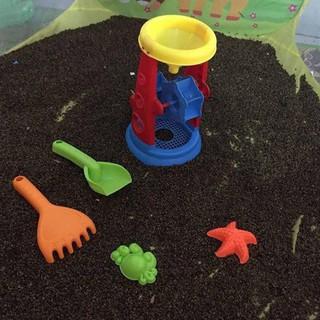Combo 5kg hạt muồng và 3 bộ đồ chơi xúc cát