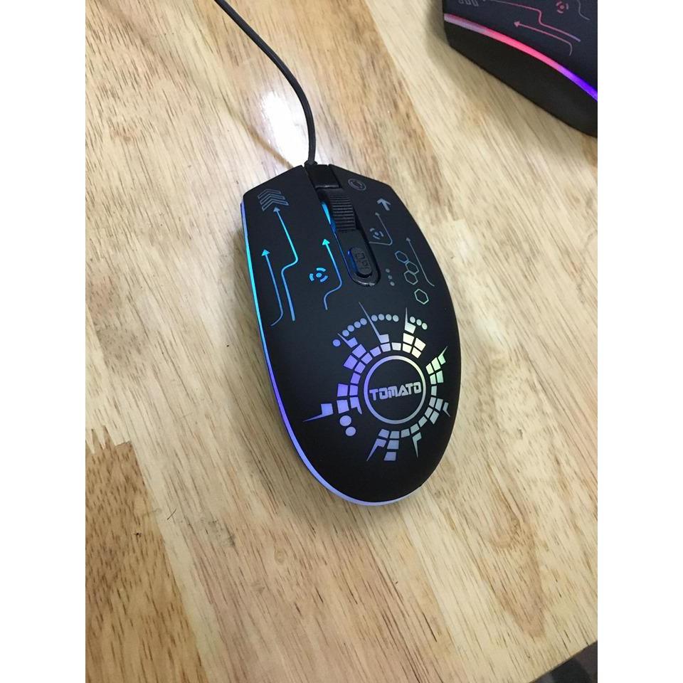 Chuột gaming led Tomato S105 dáng cực đẹp,chuột chơi game chất lượng bền bỉ,vds shop