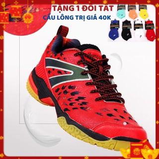 Giày cầu lông Kumpoo A71 hai màu Đen – đỏ êm chân, bền, bảo hành 2 tháng, 1 đổi 1 trong vòng 15 ngày