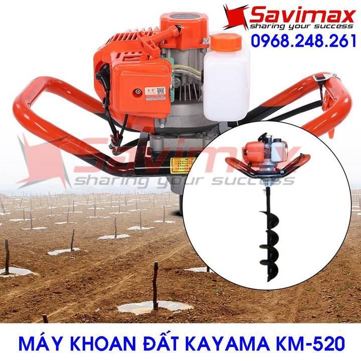 Nơi bán máy khoan đất trồng cây Kayama KM-520 chất lượng cao và giá rẻ + Tặng kèm mũi khoan đất 150MM/800MM