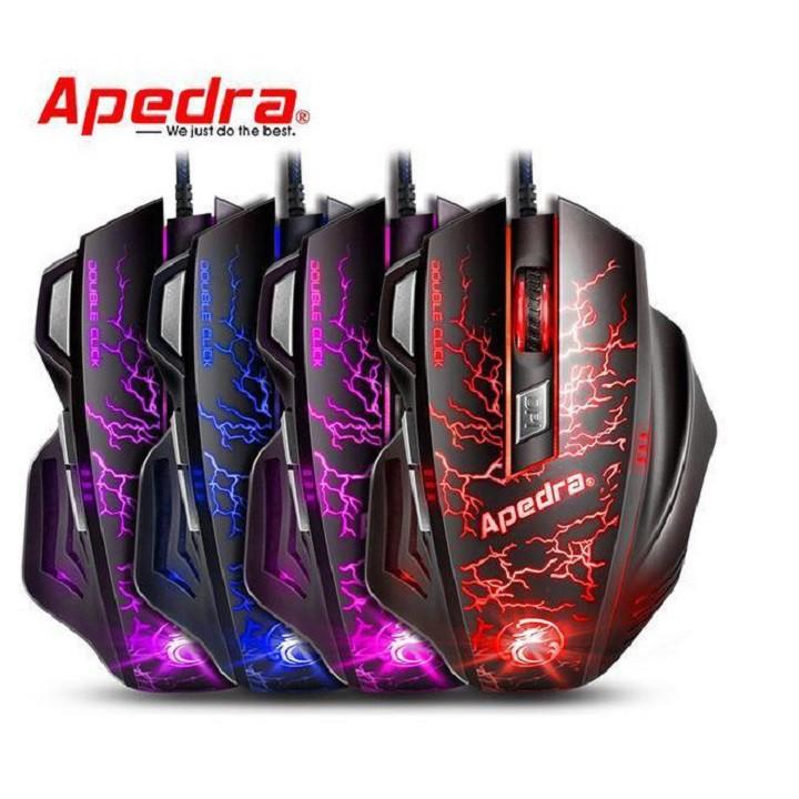 Chuột Gaming Apedra A7 – Chính hãng – Led đổi màu – Độ nhạy 3200 DPI – Bảo hành 12 tháng