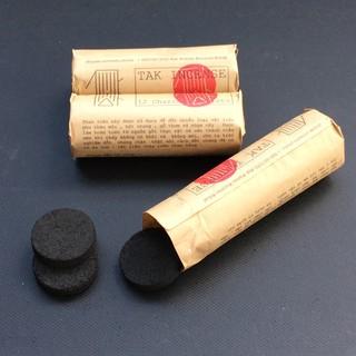 Than nén dùng đốt trầm hương, thảo mộc, gỗ thơm, cuộn 12 viên [ Charcoal tablets for loose Incense ]