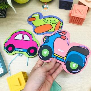 Đồ chơi cho trẻ 1 tuổi, Bộ 10 hình xỏ dây hình thù ngộ nghĩnh, đồ chơi con vật, khủng long, phát triển vận động tinh cho thumbnail
