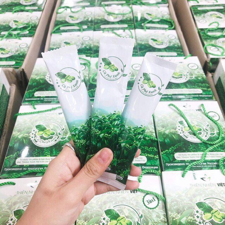 Combo 2 Hộp Cà phê Xanh kháng mỡ Hộp 30 gói - Thiên Nhiên Việt