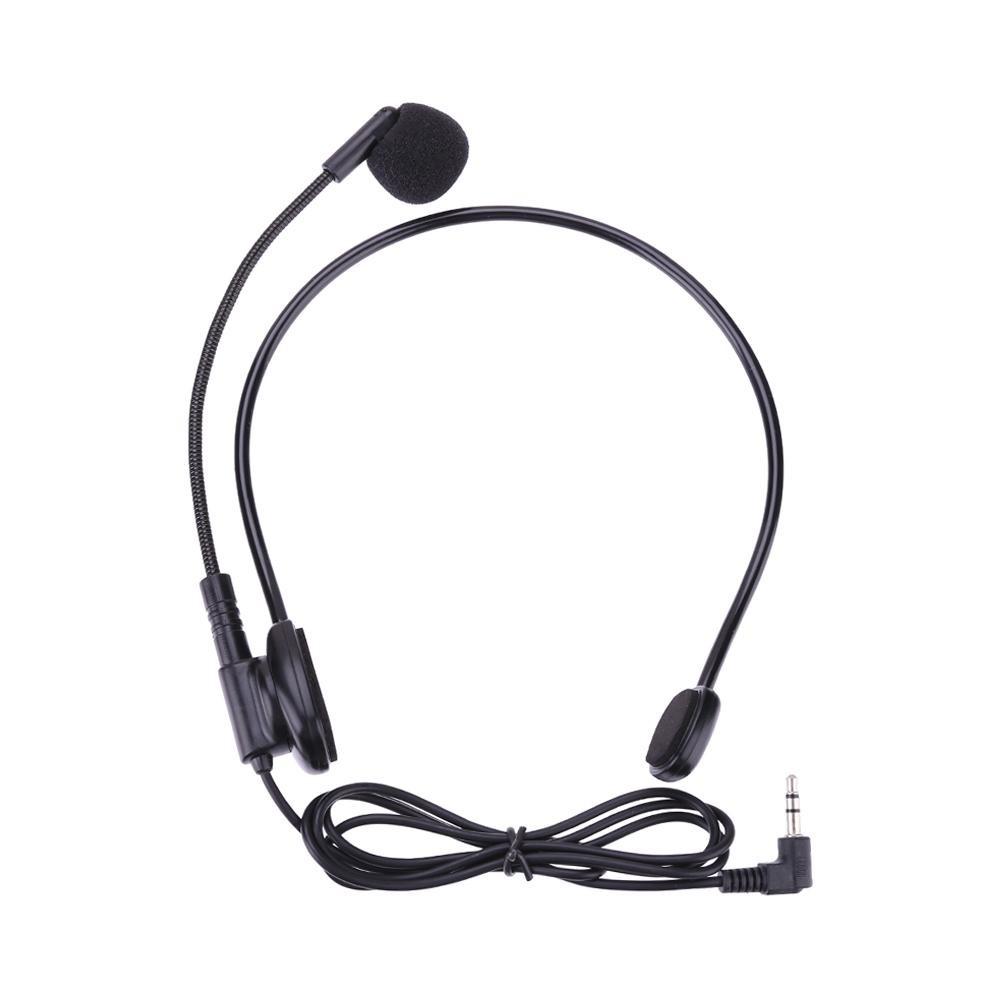 Bộ micro đeo đầu có dây gắn kèm kẹp giữ tiện lợi