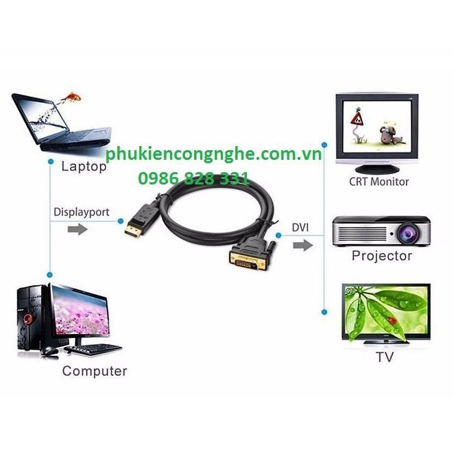 Cáp chuyển Displayport to DVI dài 1,5M chính hãng Ugreen 10243 - 21481278 , 269085232 , 322_269085232 , 200000 , Cap-chuyen-Displayport-to-DVI-dai-15M-chinh-hang-Ugreen-10243-322_269085232 , shopee.vn , Cáp chuyển Displayport to DVI dài 1,5M chính hãng Ugreen 10243