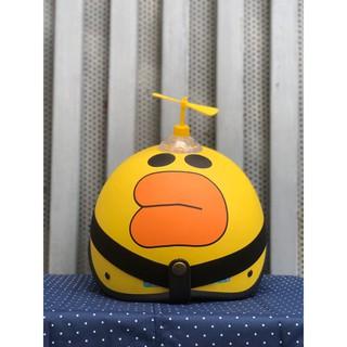 [ FLASH SALE] Mũ Bảo Hiểm 1/2 Kèm Chong Chóng Và Kính Siêu Cute Nhiều Màu   Mũ Nhựa ABS Độ Bền Cao -BH 6 Tháng