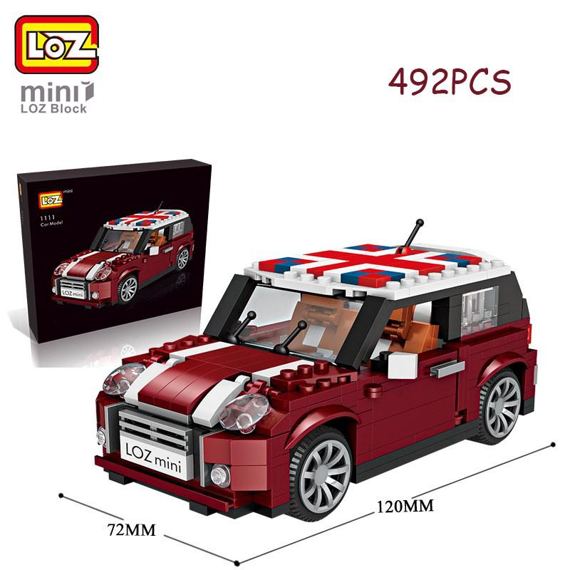 MB266 Mini Car Model 492Pcs DIY Diamond Mini Building Nano Blocks Toys