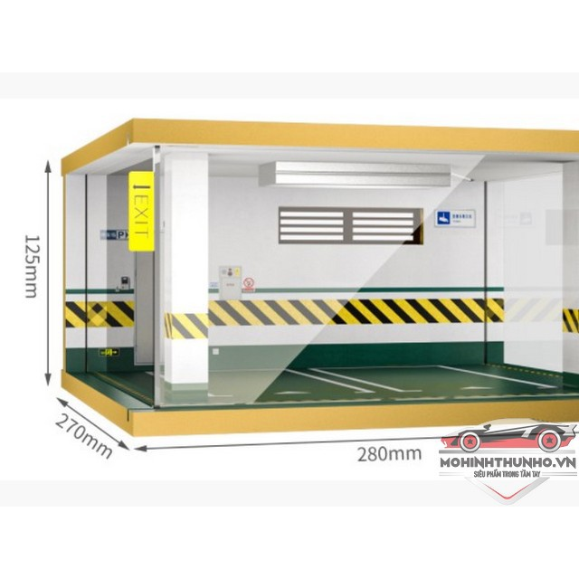 Garage tầng hầm trưng bày xe mô hình tỉ lệ 1:24