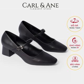 Carl & Ane - [Form lơ n lu i 1 size] Gia y cao go t thời trang nư mu i vuông phô i dây cao 5cm màu đen _ CP003 thumbnail