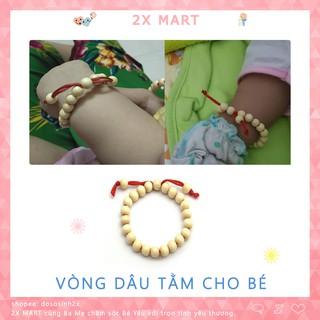 Vòng dâu tằm cho bé Giảm quấy khóc đêm trẻ nhỏ, đẩy vía trừ tà chống giật mình - 2X MART thumbnail