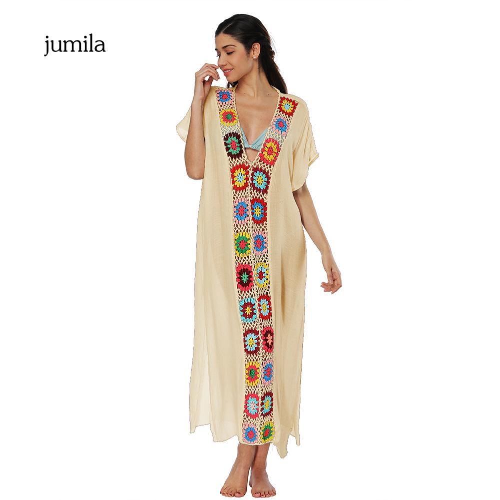 Đầm maxi ngắn tay cổ tim in họa tiết hoa thanh lịch dành cho nữ