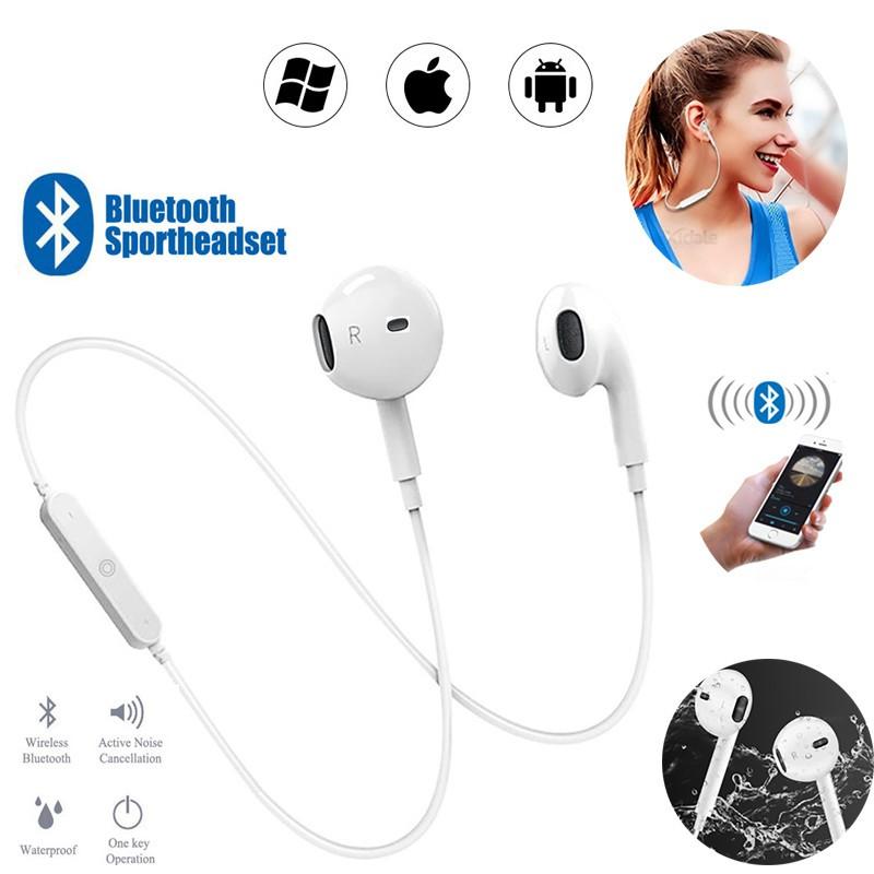 Tai nghe không dây in-ear S6 thể thao Tai nghe Bluetooth V4.1 với micrô stereo Tai nghe nhét tai Điện thoại thông minh phổ thông