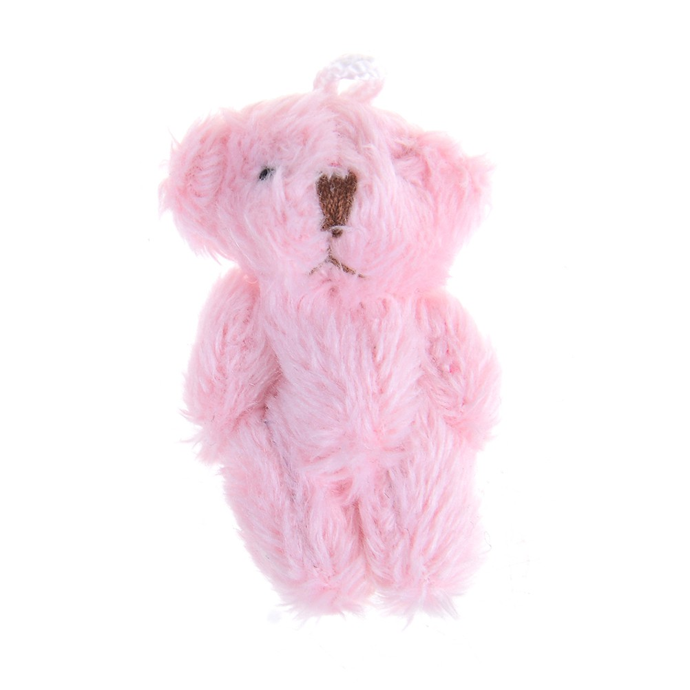 Baω Mini 4.5 cm fluffy bear plush stuffed toy doll for kids candy box gifts toys ωby
