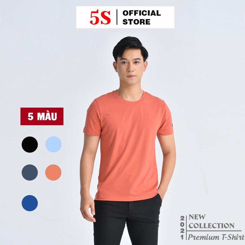Áo Phông Nam Tay Ngắn Premium 5S (5 màu), Chất Liệu Thun Siêu Mát, Bền Màu (TSO21003-01).