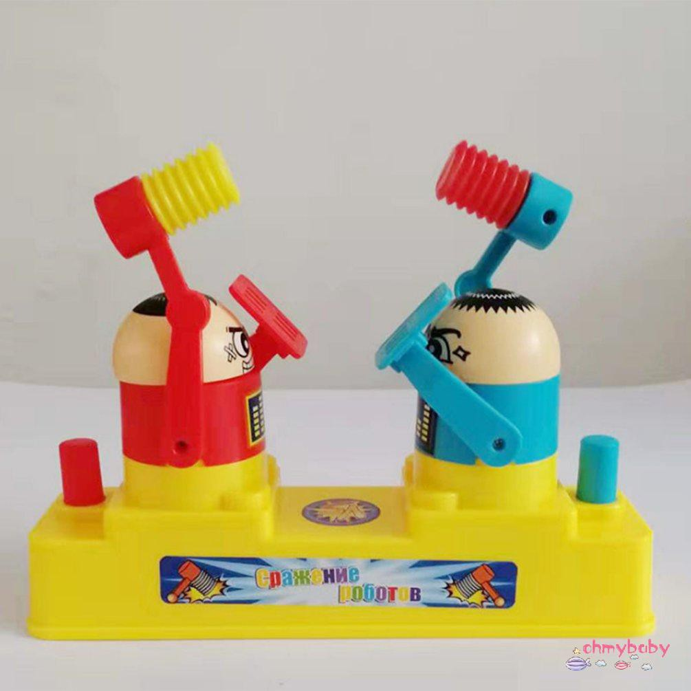 【OMB】 2-person Fighting Toys Neutral wood Doll Fighting Wooden Toys for kids funny wood toys for boys girls 1 set