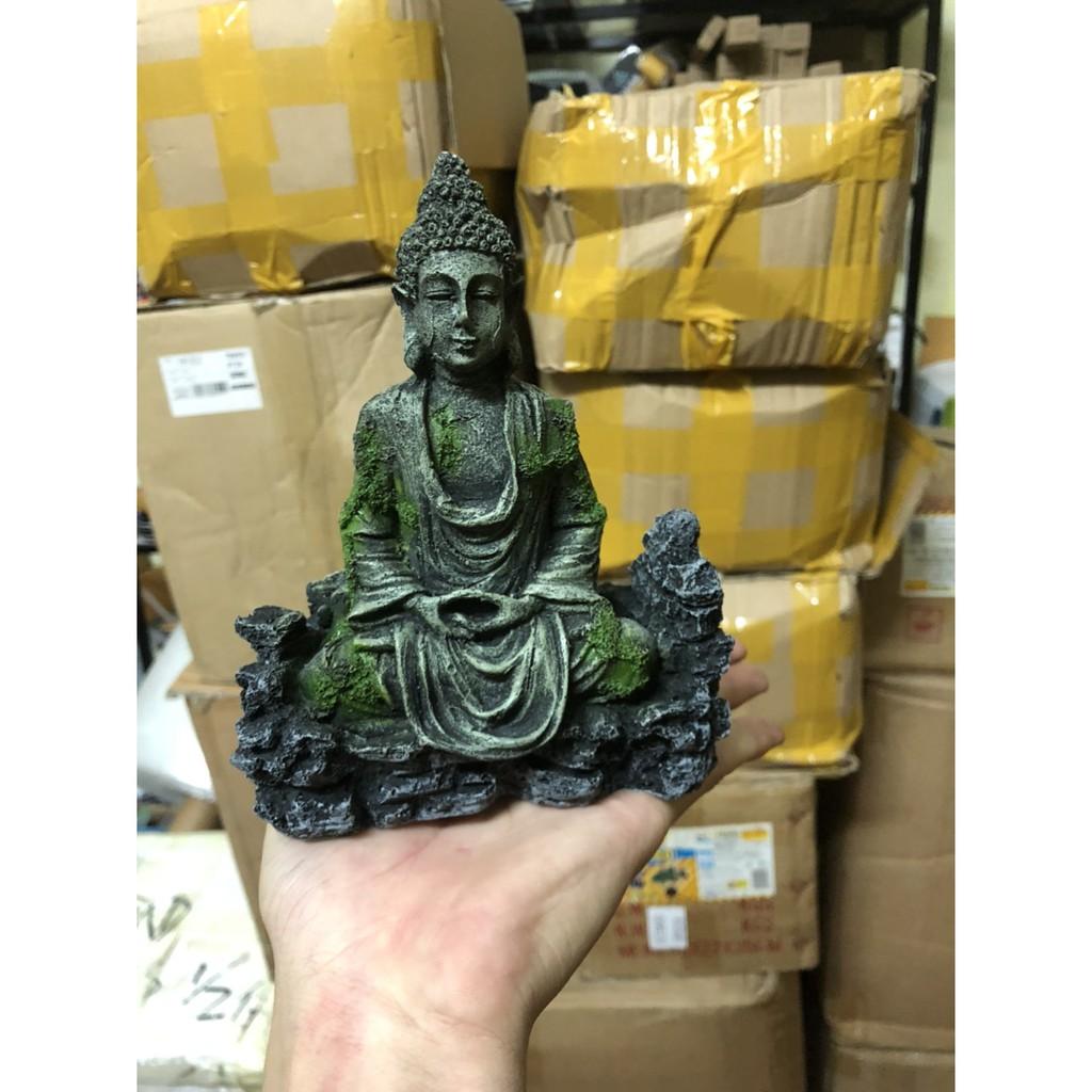 Tượng Phật Trang Trí Bể Thủy Sinh, Bán Cạn- Layout Tượng Phật Ngồi Thiền Trong Bể Cá