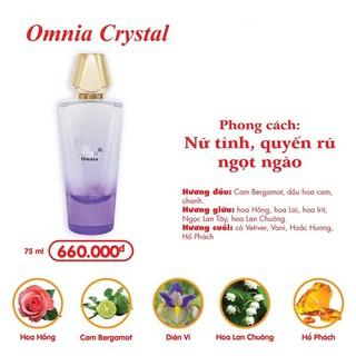 Nước hoa nữ OMNIA CRYSTAL (75ML) - HƯƠNG HOA NHÀI GỢI CẢM