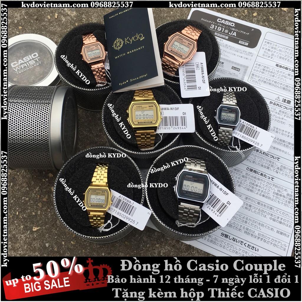 [Ảnh Thật Tự Chụp] Đồng hồ CASIO nữ nam điện tử kiểu dáng Claasic dây kim loại dành tặng các Couple