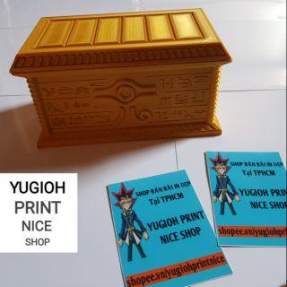 [HỘP BÀI] Hộp Bài YuGiOh – Hộp đựng bài Millennium Puzzle màu Vàng Gold !!!