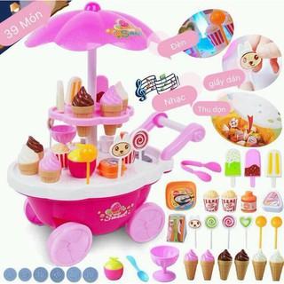 Xe bán kem có nhạc đèn (size to – mẫu mới nhất)