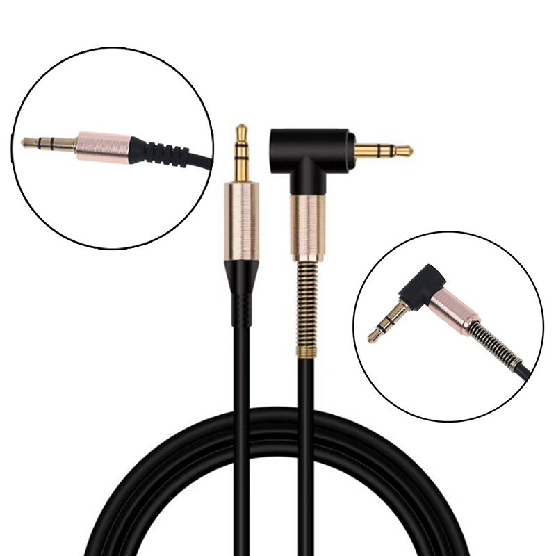 LFVN 3.5mm Male to male aux cable cord L right angle car audio headphone jack 1 Grand Giá chỉ 21.000₫