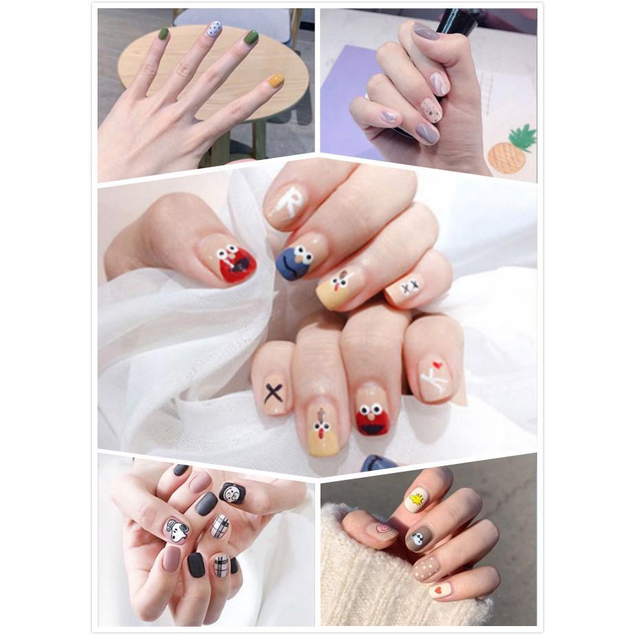 Sticker chống thấm nước dán trang trí móng tay phong cách Hàn Quốc đán