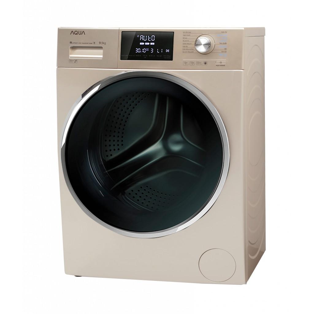 VẬN CHUYỂN MIỄN PHÍ KHU VỰC HÀ NỘI ] Máy giặt Aqua cửa ngang 9.5 kg màu  vàng AQD-DD950E.N